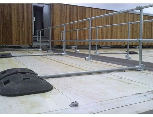 R06 Safety Barrier Metal Railing to Roof Areas