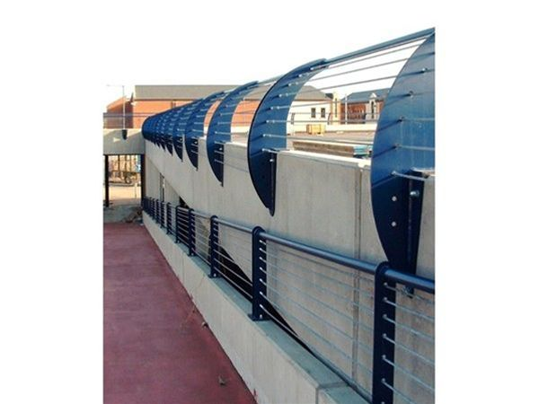 R02 Decorative Metal Wire Profiled Railings for Car Park ...