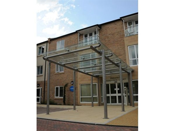 EF09 Supported Glass Entrance Feature Care Home Derby