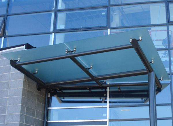 EF03 Satin Glass Entrance Feature Stadium Cardiff