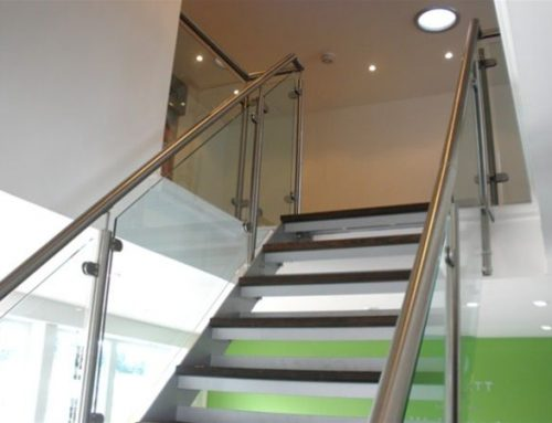 PM03 Fabricated Metal and Glass Staircase Yeovil