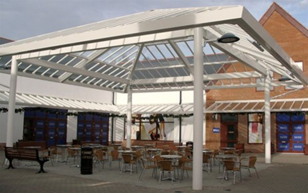 P03 Patent Glazed Glass Roof Courtyard Pavilion Gretna