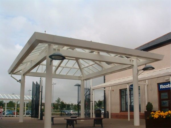 P07 Patent Glazed Glass Roof Retail Outlet Pavilion Gretna