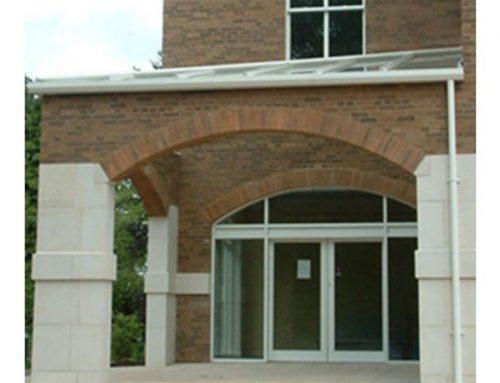 P08 Patent Glazed Glass Roof Entrance Pavilion to University Nottingham