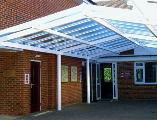 P01 Patent Glazed Glass Roof Pavilion to Courtyard in School Tunbridge Wells
