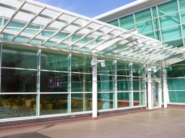 RP01 Refurbished Glass Canopy Roof to Supermarket Telford