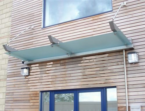 SC02 Satin Glass Suspended Canopy Offices Aylesbury