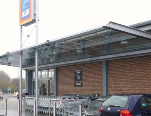 SC08 Suspended Glass Canopy Supermarket Clowne