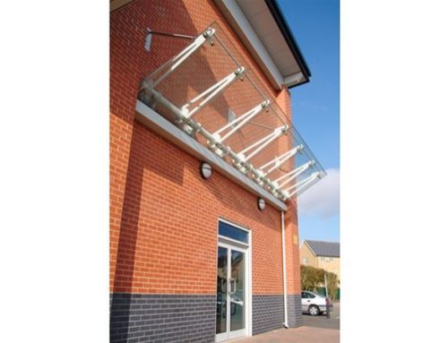 SC05 Suspended Glass Canopy Supermarket Colchester