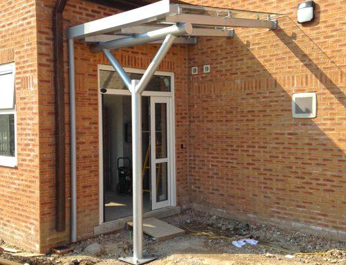 Bury Council – Entrance Canopy – Banks Art College