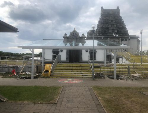 DPS Architects – Glazed Canopies – Balaji Temple, Oldbury